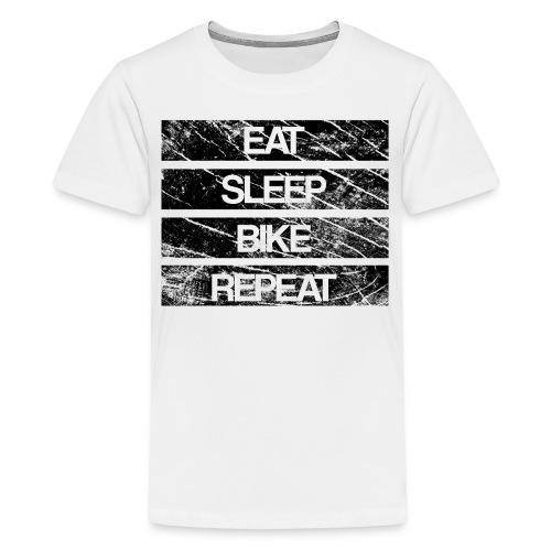 eat sleep bike repeat Used look - Teenager Premium T-Shirt