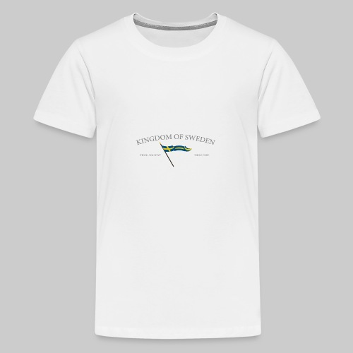 Swedish flag with text - Premium-T-shirt tonåring