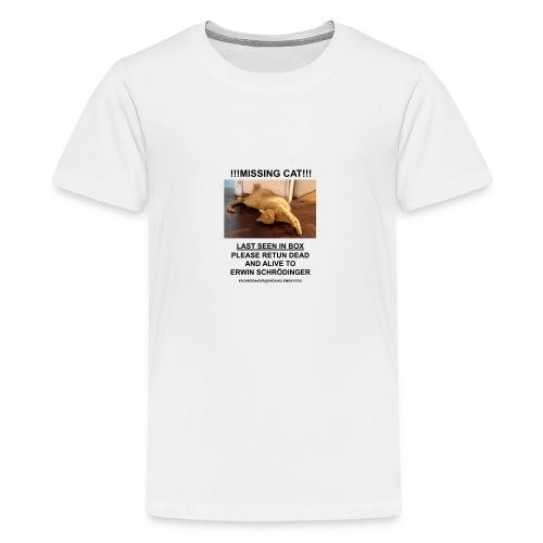 Schrodinger Cat - Premium T-skjorte for tenåringer