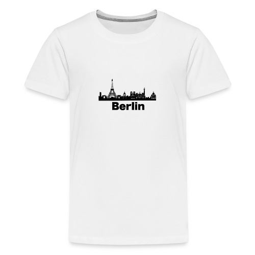 Verwirrende T-Shirts Berlin Paris Skyline - Teenager Premium T-Shirt