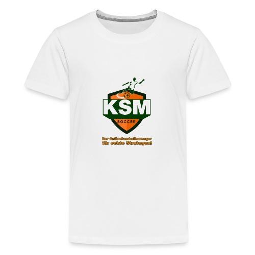 KSM-Soccer Logo - Teenager Premium T-Shirt