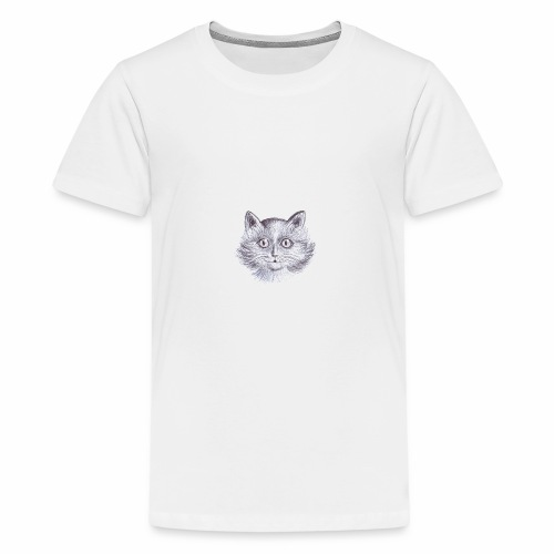 Gatto Con occhi grandi - Maglietta Premium per ragazzi