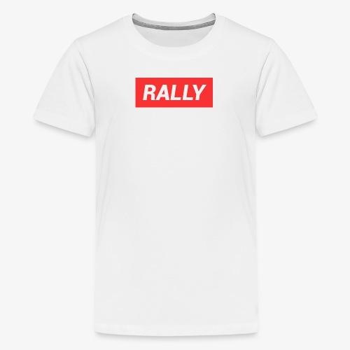 Rally classic red - Premium-T-shirt tonåring