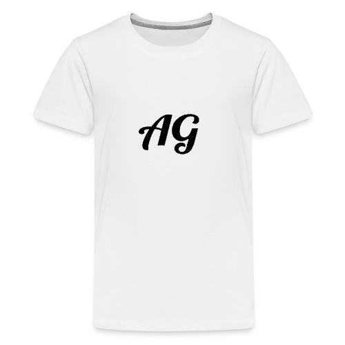Zwarte Letters - Teenager Premium T-shirt