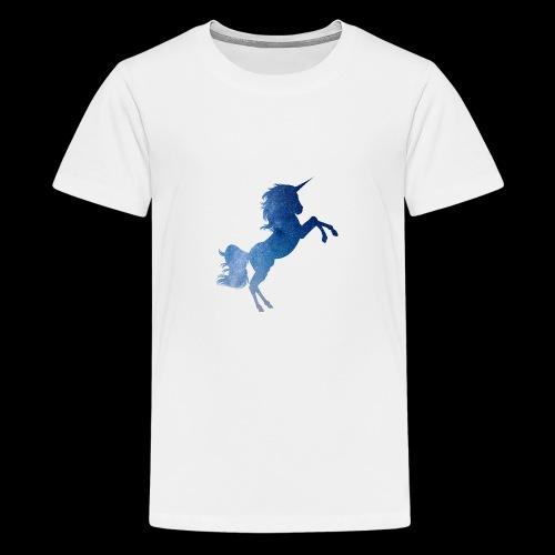 Galaxy Unicorn - Blue - Teenager Premium T-Shirt