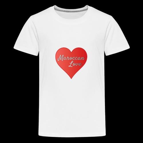 Maroccan_Love_LifeStyle Logo - Teenager Premium T-Shirt
