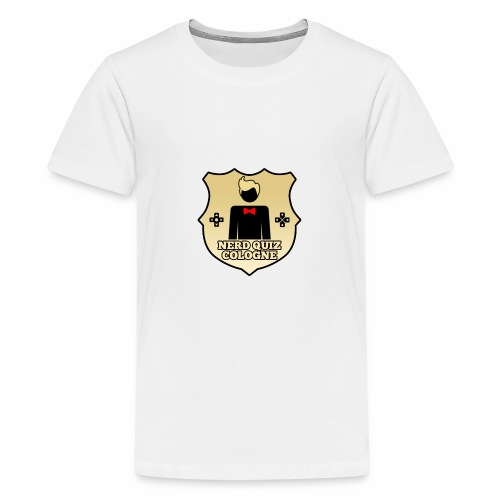 Nerd Quiz Logo - Teenager Premium T-Shirt