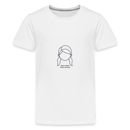 Sorta sweet. Sorta savage. - Teenager Premium T-Shirt
