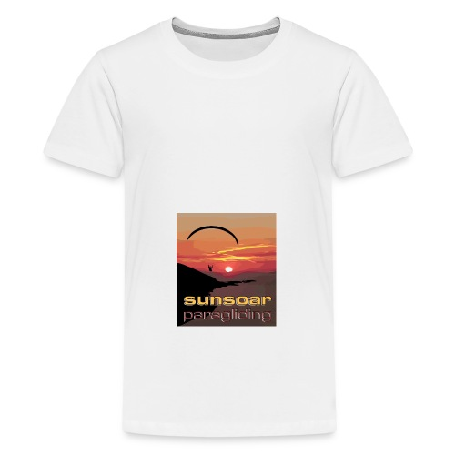 sunset flying - Teenage Premium T-Shirt