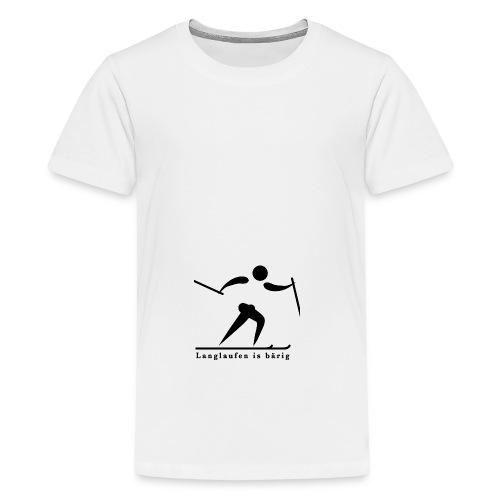 Langlaufen is bärig - Teenager Premium T-Shirt
