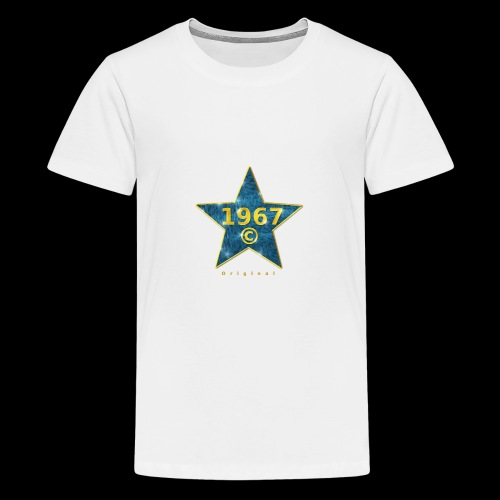 Star blau Jahrgangs-T-Shirt, jede Jahreszahl - Teenager Premium T-Shirt