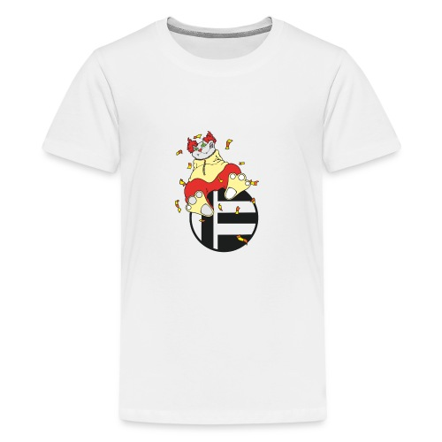 Katze Clown - Teenager Premium T-Shirt