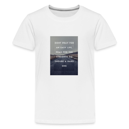 bruce lee quote - Premium-T-shirt tonåring