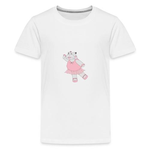Ballerina Hippo - Teenager premium T-shirt