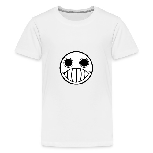 Crazy Cringe Smiley (Schwartz) - Teenager Premium T-Shirt