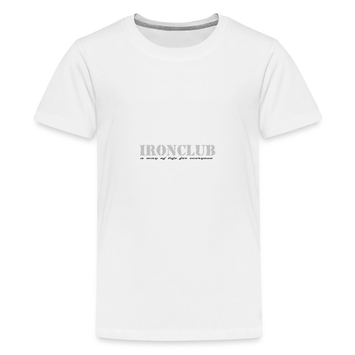 IRONCLUB - a way of life for everyone - Premium T-skjorte for tenåringer