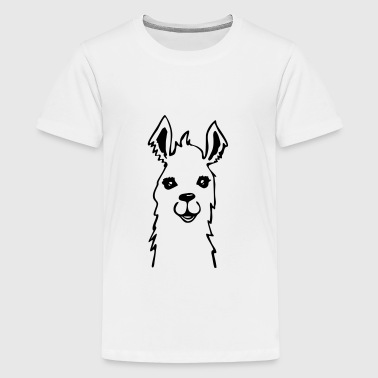 Lama Llama Alpaka cute Zeichnung - Teenager Premium T-Shirt