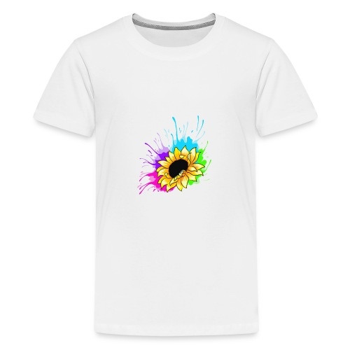 Sonnenblume Splash - Teenager Premium T-Shirt