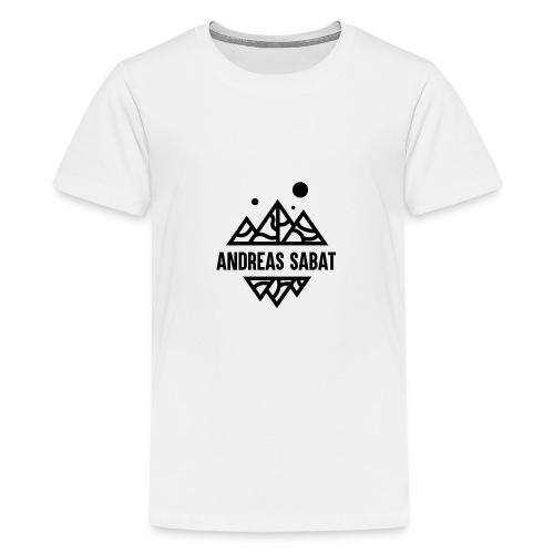 sabat logo black - Teenager premium T-shirt
