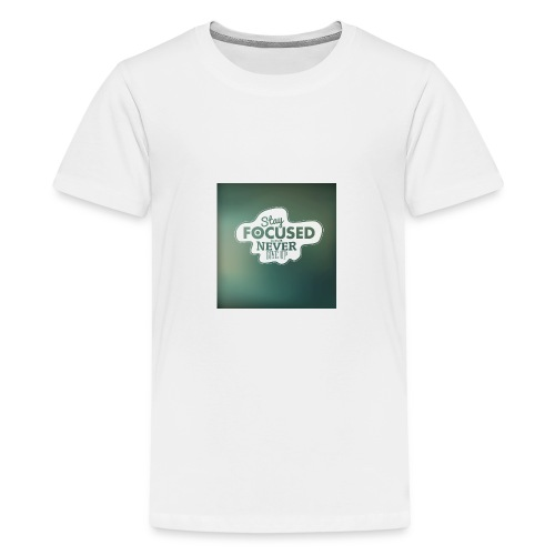NEVER GIVE UP! - Teenager premium T-shirt
