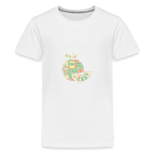 Vegan Cloud Veggie Vegetarisch Organic Geschenk - Teenager Premium T-Shirt