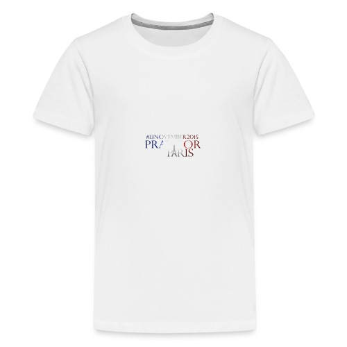 Pray for paris with France flag - Teenager Premium T-shirt