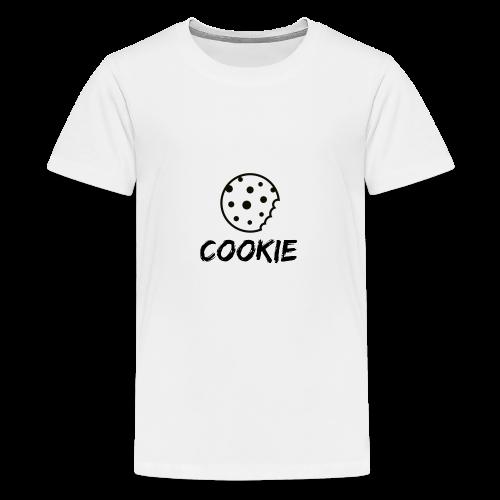 Cookie_-_Black_-_cookie - Teenage Premium T-Shirt