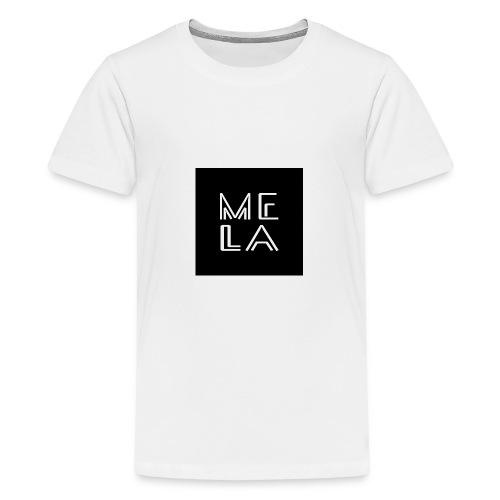 Mela Svart Logo - Premium T-skjorte for tenåringer