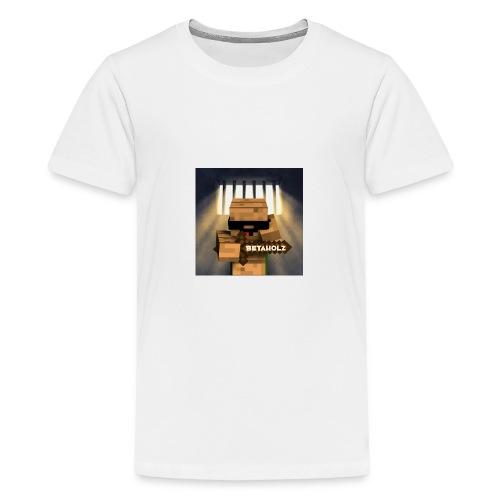 mein YouTube profielBild mit dem Getto Holz im Kna - Teenager Premium T-Shirt