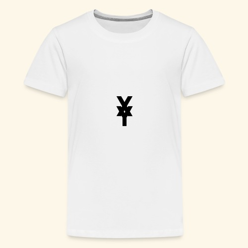 XY Logo In Black - Teenage Premium T-Shirt