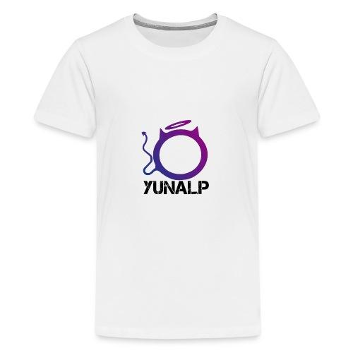 Logo mit Namen - Teenager Premium T-Shirt