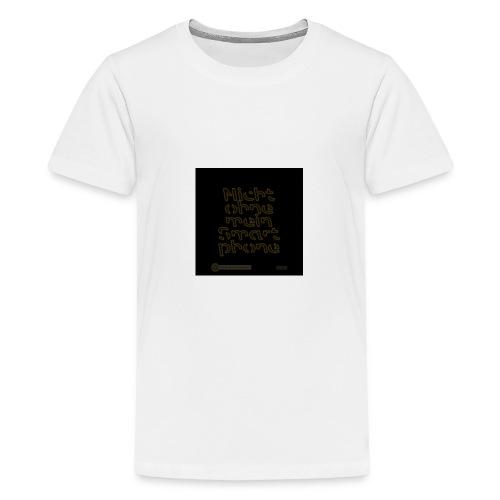 Design Nicht ohne mein Smartphone gold 4x4 - Teenager Premium T-Shirt