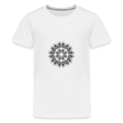 Floral Silhouette - Teenager Premium T-shirt
