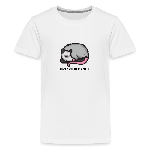 OpossumTS-Logo mit Schrift - Teenager Premium T-Shirt