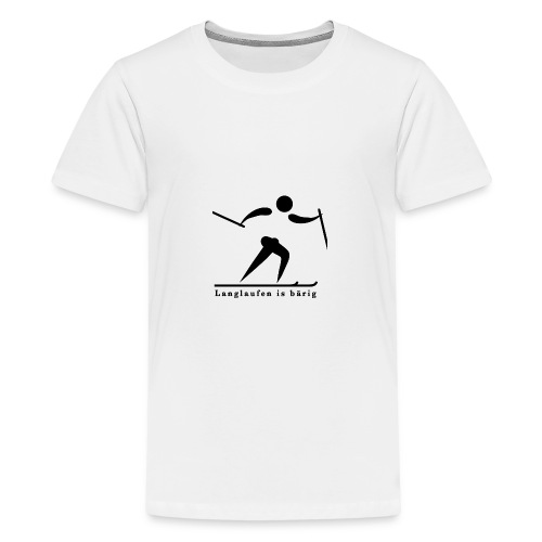 Langlaufen is bärig - Teenager Premium T-Shirt