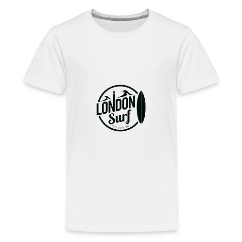 London Surf - Black - Teenage Premium T-Shirt