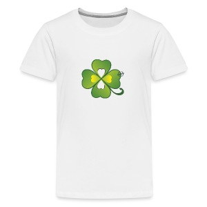 Clover - Symbols of Happiness - Teenage Premium T-Shirt