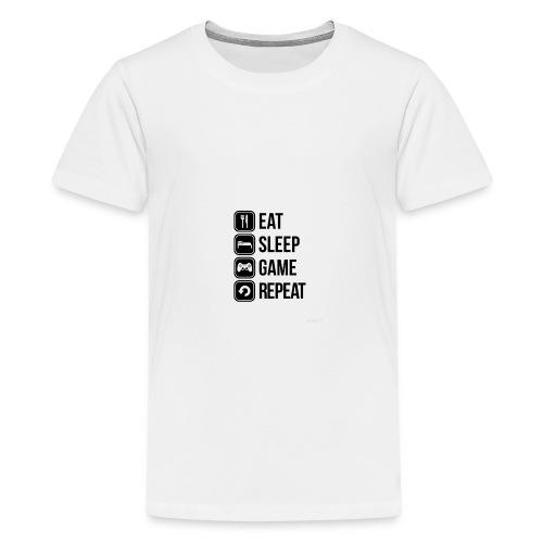 Eat Sleep Game Repeat Collection - Teenage Premium T-Shirt