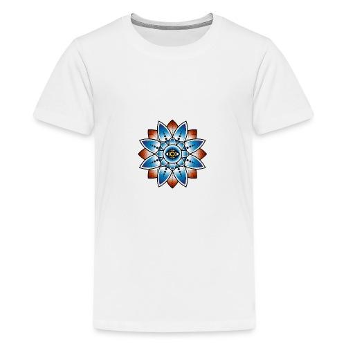 Psychedelisches Mandala mit Auge - Teenager Premium T-Shirt
