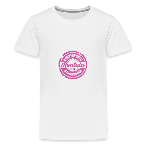 06P-KONTULAN KORKEAKOULU - Tekstiilit ja lahjat - Teinien premium t-paita