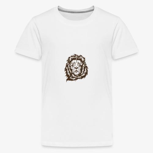 faccia leone - Maglietta Premium per ragazzi