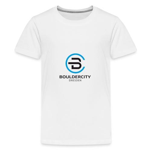 Bouldercity Dresden Blau Schwarz - Teenager Premium T-Shirt