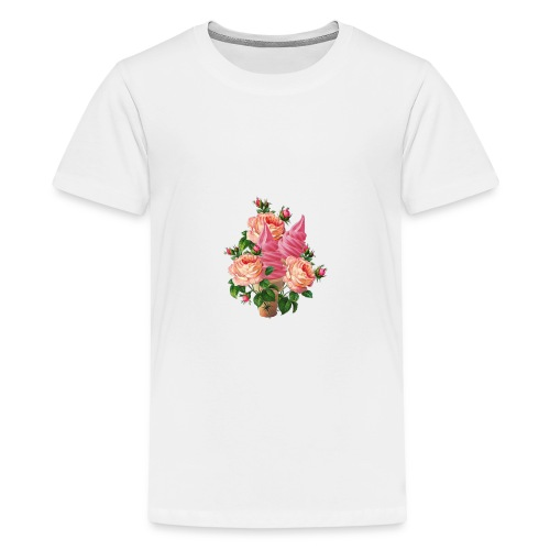 bouquet di fiori e gelati - Maglietta Premium per ragazzi