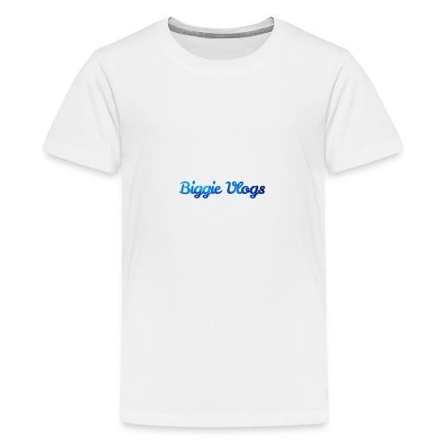 blue BiggieVLogs Kids tshirt - Teenage Premium T-Shirt