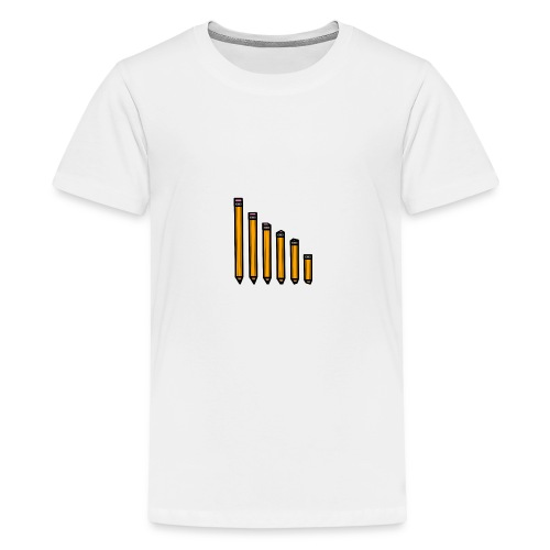 pencil evolution - Teenage Premium T-Shirt
