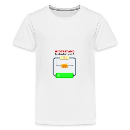 Widerstand ist niemals zwecklos - Teenager Premium T-Shirt
