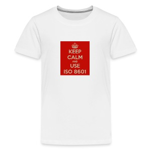 keep calm and use iso 8601 - Premium T-skjorte for tenåringer