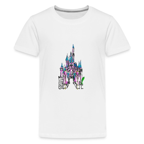 Fairy Tale Castle - Teenage Premium T-Shirt
