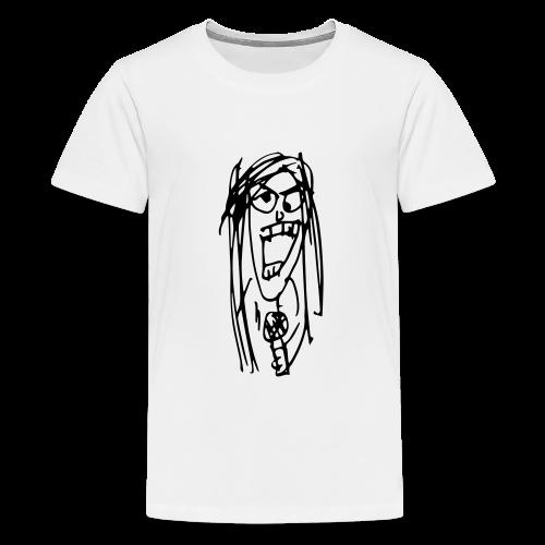 Almost Indie Julia Sketch - Teenager Premium T-Shirt