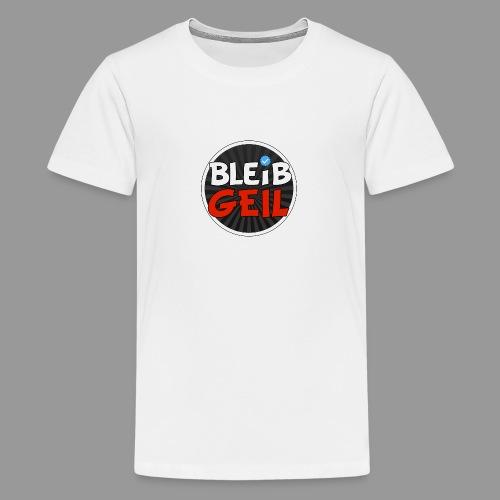BleibGeil RotSchwarz - Teenager Premium T-Shirt